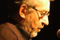 José Sacristán durante la lectura en Alfacar